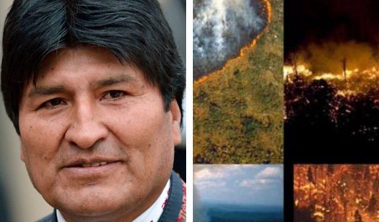 Evo Morales contratará una imponente nave cisterna para el fuego del Amazonas