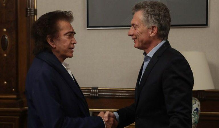 Macri recibió al «Puma» Rodríguez en la Casa de Gobierno