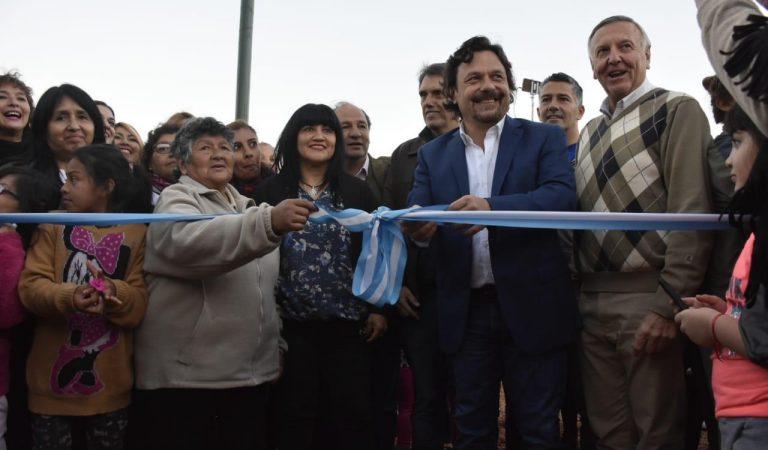 Gustavo Saenz presentó las obras en la Plaza Gurruchaga
